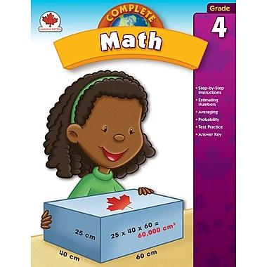 Carson-Dellosa Complete Math Workbook, Grade 4