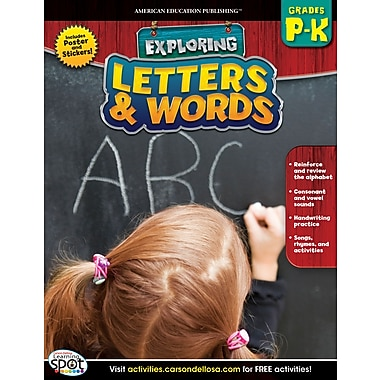 American Education Letters & Words Workbook