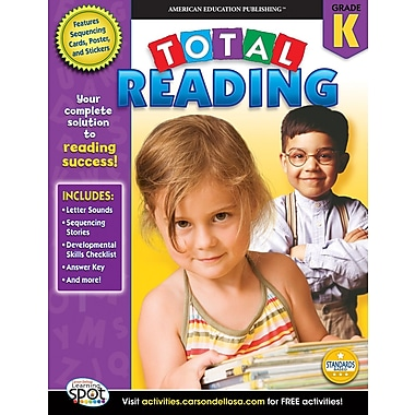 American Education Total Reading Workbook, Grade K