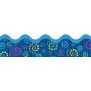 """Carson-Dellosa Publishing 108080 3' x 2.25"""" Scalloped Dots n Swirls Borders, Multicolor"""