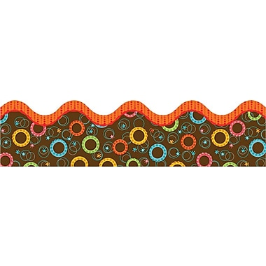 Carson-Dellosa Publishing 108084 3' x 2.25in. Scalloped Synergy Circles Border, Multicolor