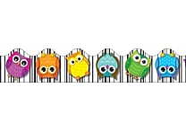 Carson-Dellosa Publishing 108123 3' x 2.25' Scalloped Colorful Owls Border, Multicolor