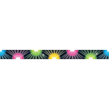 Carson-Dellosa Publishing 108106 3' x 3in. Straight Rock Show Border, Multicolor
