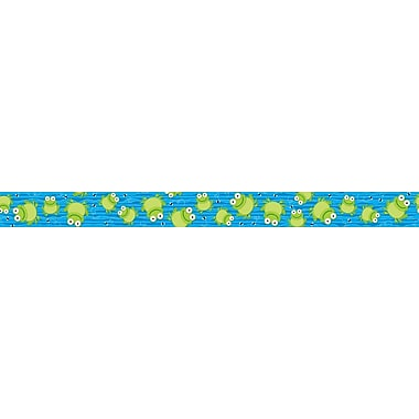 Carson-Dellosa Publishing 108110 3' x 3in. Straight Frogs Border, Multicolor
