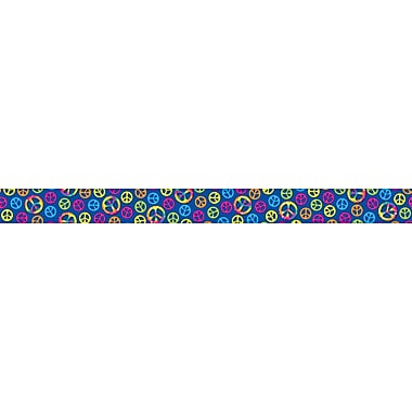 Carson-Dellosa Publishing 108115 3' x 3in. Straight Peace Signs Borders, Multicolor