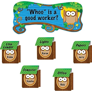 Carson-Dellosa Owl Job Assignment Bulletin Board Set