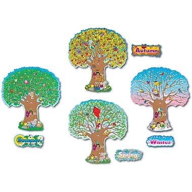 Carson-Dellosa Four Seasons Trees Bulletin Board Set