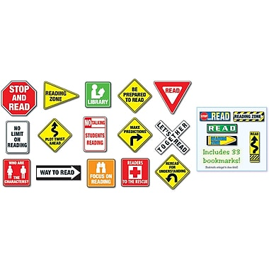 Carson-Dellosa Reading Road Signs Bulletin Board Set