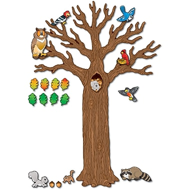 Carson-Dellosa Big Tree with Animals Bulletin Board Set