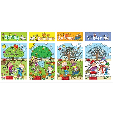 Carson-Dellosa Four Seasons Bulletin Board Set