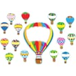 Carson-Dellosa Hot Air Balloons Bulletin Board Set