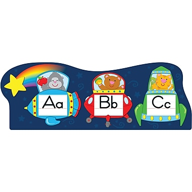 Carson-Dellosa Alphabet Spaceships Bulletin Board Set