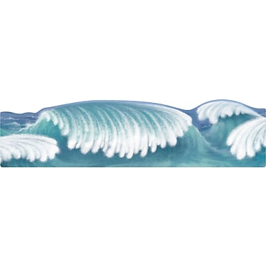Carson-Dellosa Publishing 110073 21in. x 6in. Straight Ocean Waves Borders, Blue