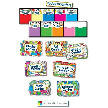 Four Blocks Learning Centers Bulletin Board Set