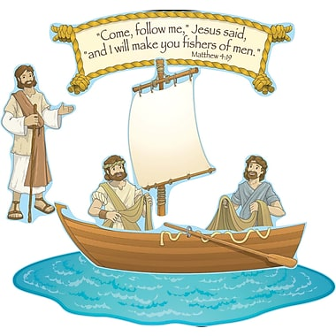 Carson-Dellosa Publishing 210026 DieCut Fishers of Men Bulletin Board Set, Multicolor