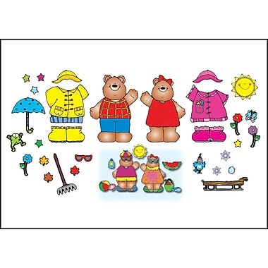 D.J. Inkers Mr. & Mrs. Weather Bear Bulletin Board Set