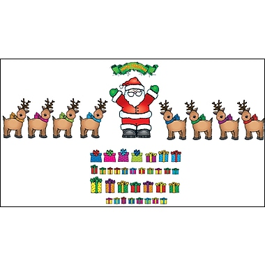 D.J. Inkers Santa 'n Reindeer Bulletin Board Set