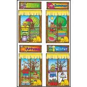 D.J. Inkers Four Seasons Windows Bulletin Board Set