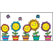 D.J. Inkers Blooming Flowers Bulletin Board Set