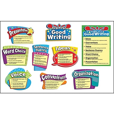 Carson-Dellosa Traits of Good Writing Bulletin Board Set, Grades 3 - 5