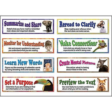 Mark Twain Building Reading Comprehension Skills Bulletin Board Set