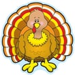 Carson-Dellosa Turkey Cut-Outs, 3 x 3, All Grades