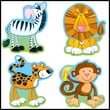 Carson-Dellosa Jungle Animals Cut-Outs