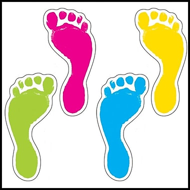 Carson-Dellosa Footprints Cut-Outs