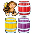 Carson-Dellosa Monkeys & Barrels Cut-Outs