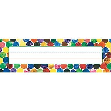 Carson-Dellosa Eric Carle Dots Nameplates