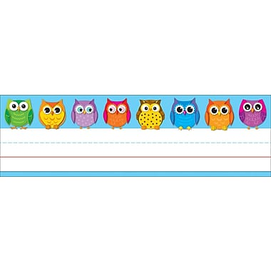 Carson-Dellosa Colorful Owls Nameplates