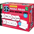 Key Education Write-on/Wipe-Off: 52 Puzzle Pieces with Writing Lines Manipulative