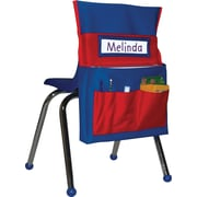 Carson-Dellosa Chairback Buddy™ Pocket, Blue with Red Pockets, All Grades