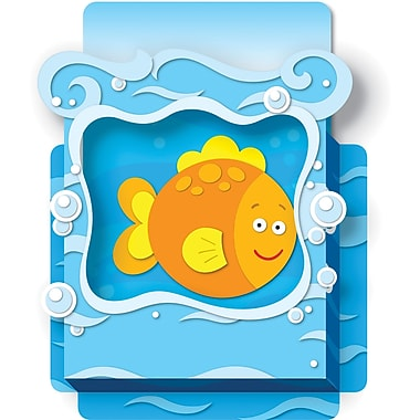 Carson-Dellosa Publishing 108072 DieCut Sea Life Dimensional Accents, Multicolor