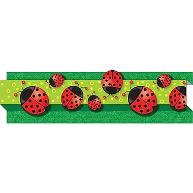 Carson-Dellosa Publishing 108040 3' x 3in. Straight Bugs & Ladybugs Borders, Multicolor