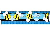 Carson-Dellosa Publishing 108053 3' x 3' Straight Bees & Bugs Borders, Multicolor