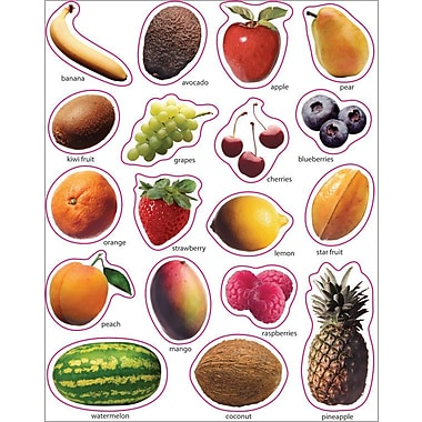 Carson-Dellosa Fruit: Photographic Shape Stickers