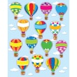 Carson-Dellosa Hot Air Balloons Shape Stickers