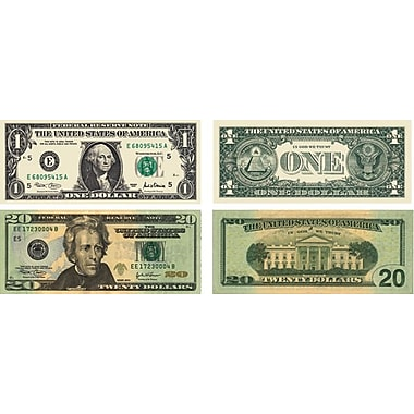 Carson-Dellosa Money, U.S. Bills Shape Stickers