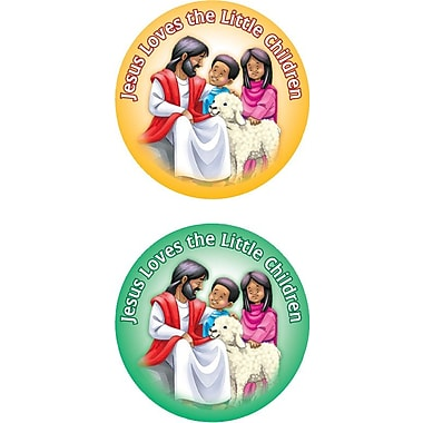 Carson-Dellosa Jesus Loves the Little Children Shape Stickers
