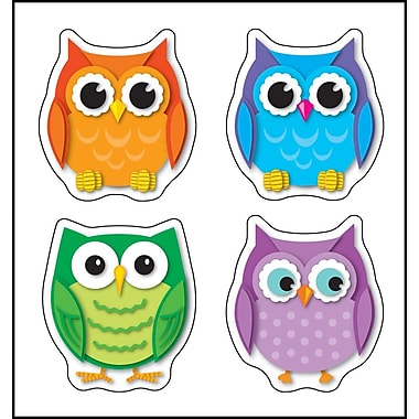 Carson-Dellosa Colorful Owls Shape Stickers