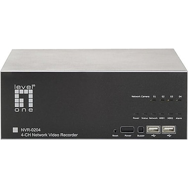LevelOne® NVR-0204 2 Way Audio H.264 MPEG-4 Part 2 MJPEG DVR System