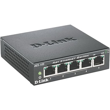 D-Link® DES-105 5-Port 10/100 Fast Ethernet Unmanaged Switch