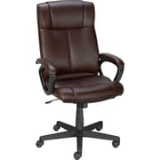 Staples® Turcotte Luxura® High Back Managers Chair, Brown