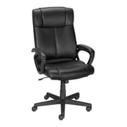 Staples Turcotte Luxura High Back Managers Chair, Black