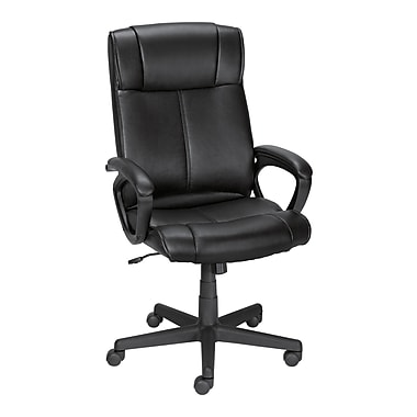 Staples® Turcotte Luxura® High Back Office Chair, Black