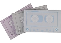Staples® Stickies™ Cassette Tape Notes, 3/Pack
