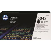 HP 504X Black Toner Cartridges (CE250XD), High Yield, Twin Pack