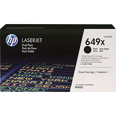 HP 649X Black Toner Cartridge  (CE260XD) High Yield, Twin Pack