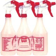 Prosafe Refillable Plastic Spray Bottles, 24 oz, 3/Pack